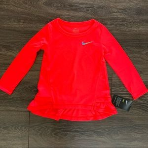 NWT Nike Long Sleeve Racer Pink Pullover